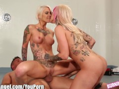 BurningAngel Double blonde BJ, emo punk style