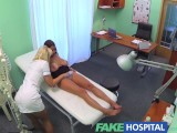 FakeHospital Busty beautiful patient has her big breasts oiled and examined by nympho nurse