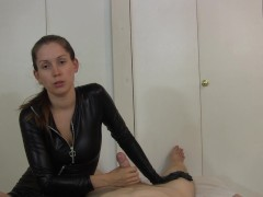 - Catsuit girl gives POV...