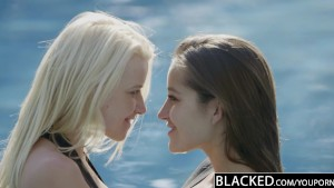 BLACKED Dani Daniels and Anikka Interracial Threesome