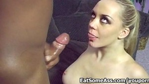 Extreme Ass Eater Annette Schwarz Licks Bunghole for a HOT Facial