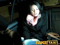 FakeTaxi Cute young Czech barmaid sucks cock