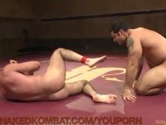 Sweaty Muscled Wrestling Hunks