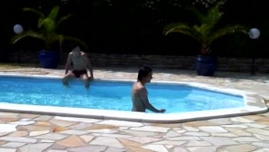 pool party with voyeur papy