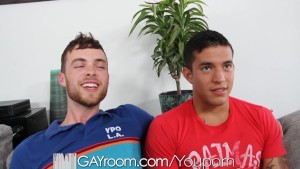 HD - GayRoom Cute guy get fucked by a straight hottie