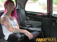 : FakeTaxi Punk rock chick sex in black cab