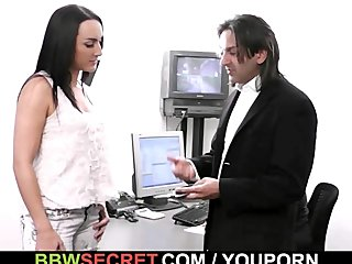 He cheats with ebony secretary and gets busted