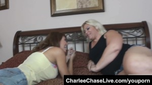 Charlee Chase and Seelah eat pussy