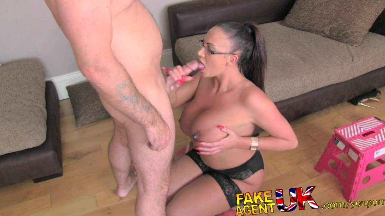 Misterfake creampie casting for a london girl with big tits 4