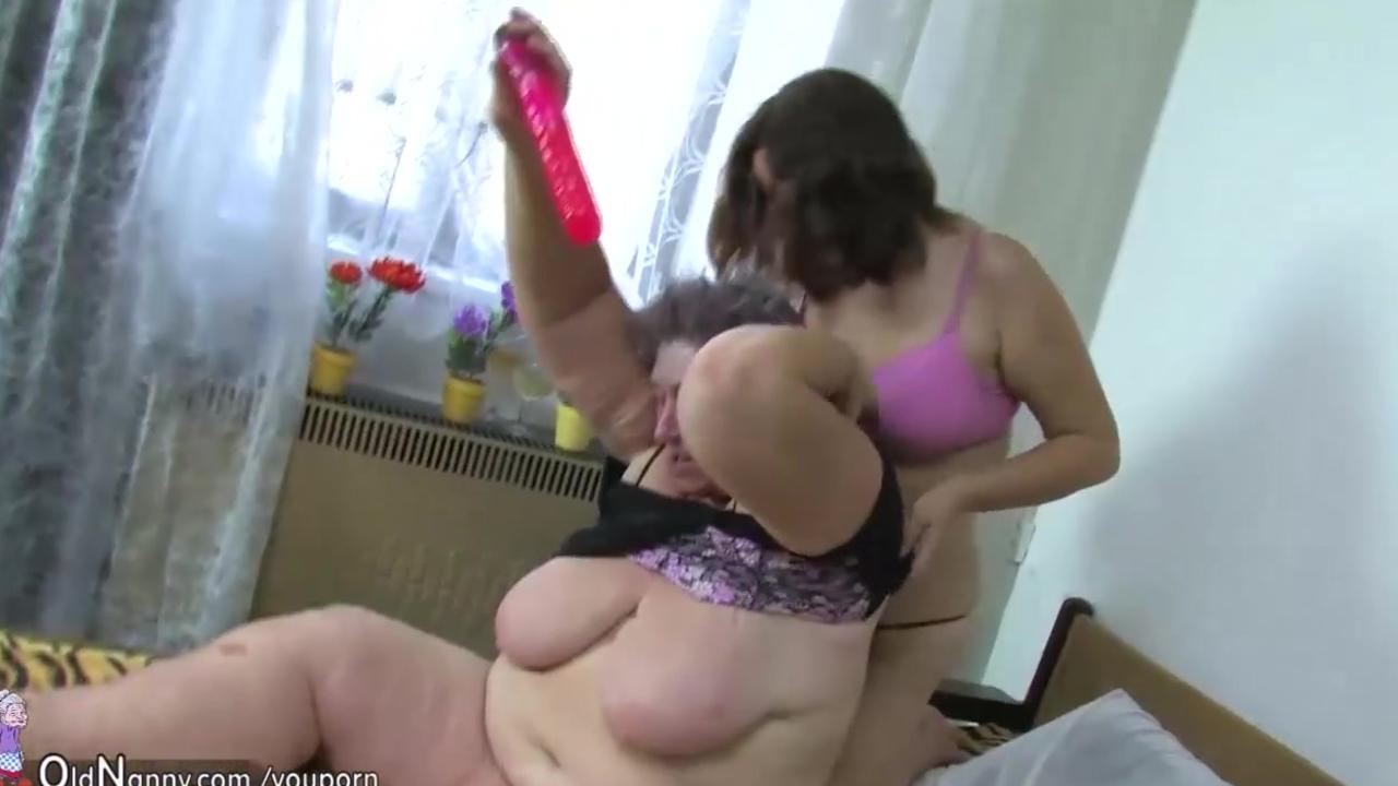 Granny, women and fat granny masturbate with a toy
