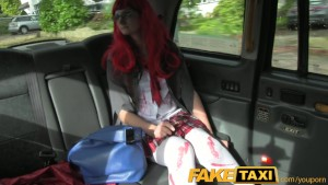 FakeTaxi Eva Johnson in a Halloween themed fake taxi video