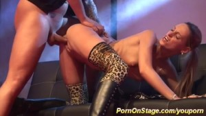 hot fuck on public stage