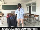 Busty schoolgirl nailed in raw threesome