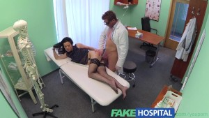 FakeHospital Tattooed Russian offers her pussy as payment when doctor discovers she has no insurance