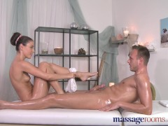Massage Rooms Handjob leads to hardcore fucking and intense orgasm