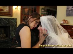 Bride is having lesbian sex with her best friend