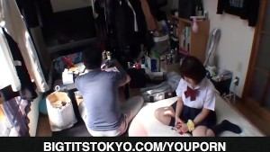 Wakaba Onoue fucks dick with big cans