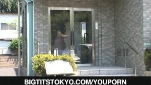Kaori Saejima with big jugs sucks cock