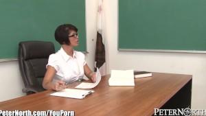 Horny MILF teacher Done over Desk