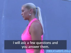 PublicAgent Russian blonde is fucked hard outside in public
