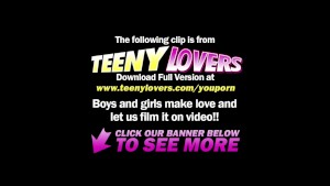 Teeny Lovers - Amazing sex with sensual teeny