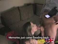 FakeAgentUK More deep throat and anal action for UK babe with no gag reflex