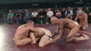 Live Tag Team Nude Wrestling Match