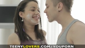 Teeny Lovers - Teeny covered in flour and cum