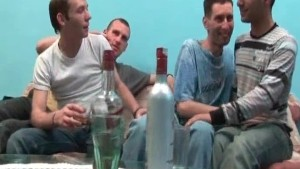Fantastic gay group sex action