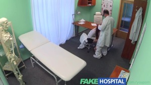FakeHospital Sexy graduate gets licked and fucked on doctors desk fo a job opportunity