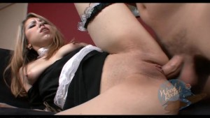 Latina maid gets a cream pie surprise