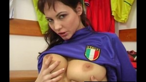 Young busty Jennifer masturbating