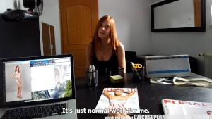 CZECH SUPER MODELS Young Teen Redhead Does Anything for FAME