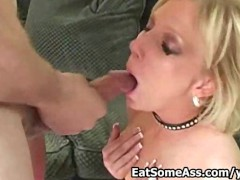 Nasty Blonde Ass eater  Alexa Lynn Licks Bunghole for Cum in Mouth