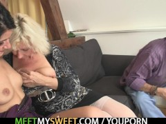 Picture Sweetie gets lured into 3some by her BF s pa...