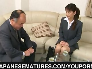 Kissing Office Sofa video: Hard dong for a tight mature