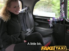 FakeTaxi Curly hair blonde takes it from behind in taxi