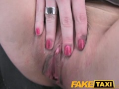 FakeTaxi Hot blonde tourist with big tits does anal at Christmas