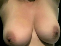 girl shows of big natural tits with insanely sexy erect nipples