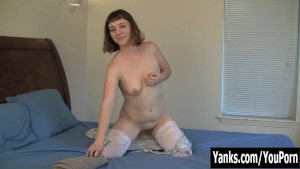 Amateur Crystal Rubbing Her Petite Pussy