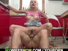 - Granny seduces her dau...