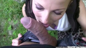 Bitch STOP - Outdoor fucking with skillful brunette