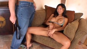 Busty Asian slut enjoys rough anal sex
