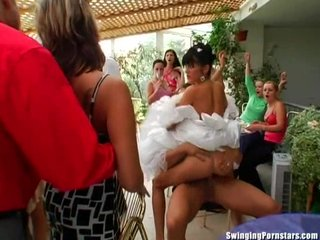 Club Gangbang Group video: Elegant bitches take dicks at a wedding