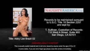 Busty brunette Abby Lee Brazil fuck in office