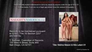 Lesbian neighbors Melina Manson and Mia Lelani having fun