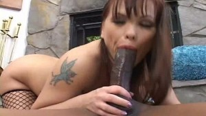 Black cock for dressed-up mom