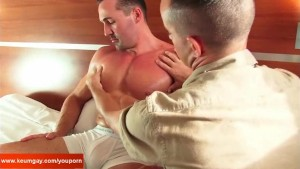 Seduced by sport guy: Adam get sucked by a guy in spite of him !