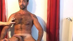 A sexy mature sport arab guy serviced his big cock by us!
