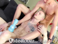 Picture HD ManRoyale - Cute guy jerking off gets fucked b...